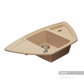 Мойка для кухни Лория угловая латте Aquaton 1A715032LR260