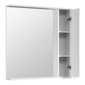 Зеркальный шкаф Стоун 80 белый Aquaton 1A228302SX010