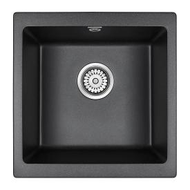 Мойка для кухни кварцевая Paulmark Brilon PM104546-BLM