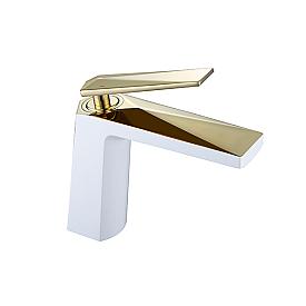 смеситель для умывальника Boheme VENTURO 381-w белый-золото