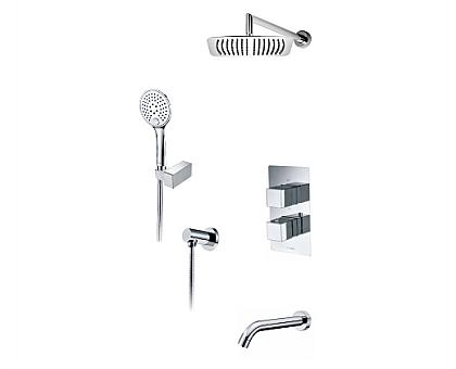 А171519 Thermo Встраиваемый комплект для ванны с верхней душевой насадкой, лейкой и изливом WasserKRAFT