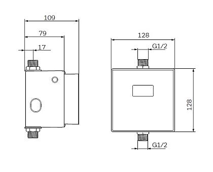 CUSEF7006 Сенсорная электронная система смыва для писсуара