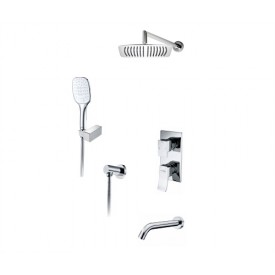 А171619 Встраиваемый комплект для ванны с верхней душевой насадкой, лейкой и изливом WasserKRAFT
