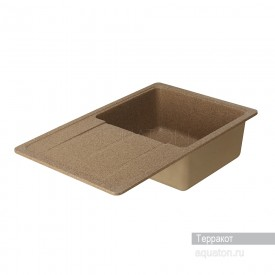 Мойка для кухни Аманда прямоугольная с крылом терракотовый Aquaton 1A712832AD270