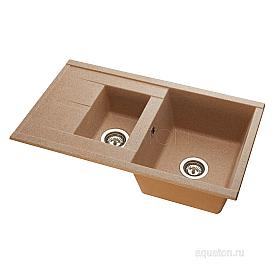 Мойка для кухни Делия 87 песочный Aquaton 1A716232DE220