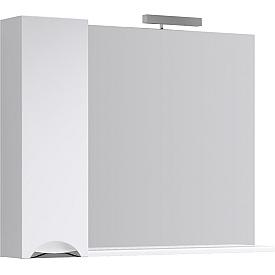 Лайн панель с зеркалом светильником и шкафчиком Li0210 AQWELLA