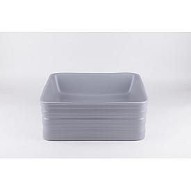 Серая матовая керамическая раковина Gid Gm965 53338