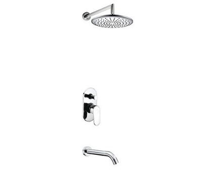 А13030 Встраиваемый комплект для ванны с изливом и верхней душевой насадкой WasserKRAFT
