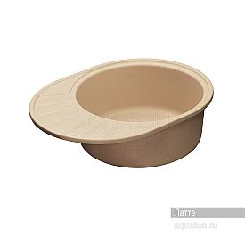 Мойка для кухни Чезана круглая с крылом латте Aquaton 1A711232CS260