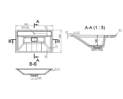 M50AWPX0801WG INSPIRE V2.0 раковина мебельная  искусственный мрамор со сливом-переливом 80 см
