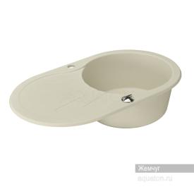 Мойка для кухни Паола круглая с крылом жемчуг Aquaton 1A714032PA240