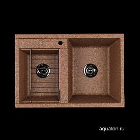 Мойка для кухни Делия 78 DBL 2 чаши терракотовый Aquaton 1A723132DE270