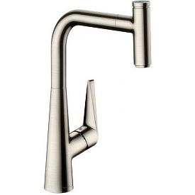 Смеситель с выдвижным изливом для кухни Hansgrohe Talis Select S 72821800