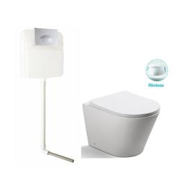 Унитаз напольный безободковый с сиденьем микролифт SantiLine SL-5020/SL-02