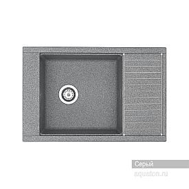 Мойка для кухни Делия 78 прямоугольная с крылом серая Aquaton 1A715132DE230