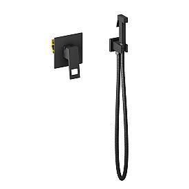 Смеситель встроенный с гигиеническим душем Timo Briana 7189/03SM черный