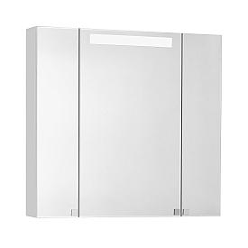 Зеркальный шкаф Мадрид 80 М со светильником белый Aquaton 1A175202MA010