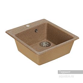 Мойка для кухни Парма квадратная терракотовая Aquaton 1A713032PM270