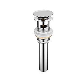 Донный клапан Gid CH100-1 73303k Хром с переливом Gid