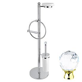 Стойка напольная c держателем туалетной бумаги Cezares OLIMP-WBS-03/24-Sw