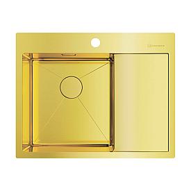 Кухонная мойка Omoikiri Akisame 65-LG-L 4973083 светлое золото