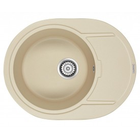 Мойка для кухни кварцевая Paulmark Oval PM316502-CH