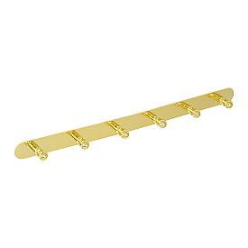 GIALETTA Планка с 6-ю крючками L47,5 см., золото