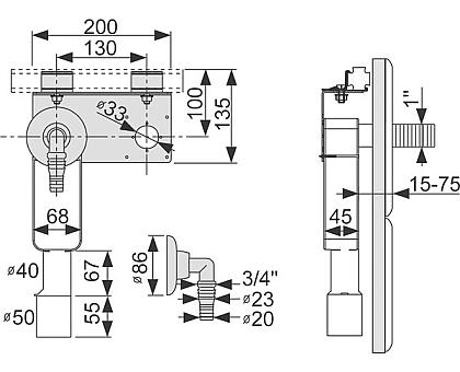 Монтажный комплект для стиральной машины TECE 9020036