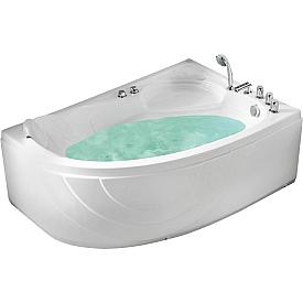 Ванна угловая с подголовником Gemy 150х100 G9009 B R
