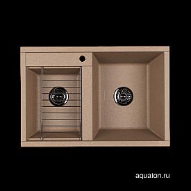 Мойка для кухни Делия 78 DBL 2 чаши латте Aquaton 1A723132DE260
