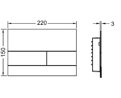 Панель смыва TECE square II 9240834