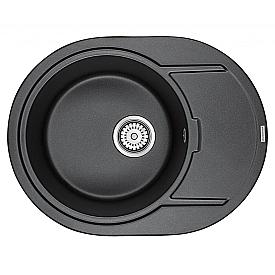 Мойка для кухни кварцевая Paulmark Oval PM316502-BL