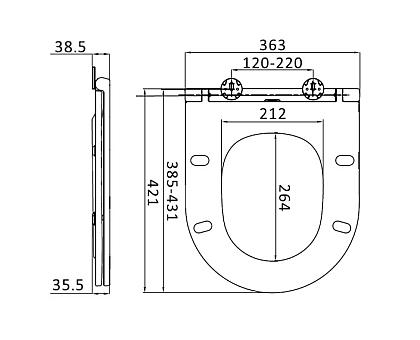 C707857WH Spirit V2.0 сиденье для унитаза slim микролифт