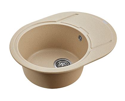 Мойка для кухни кварцевая Paulmark Oval PM316502-QU