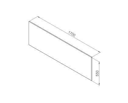 W52A-170-075W-P Inspire 2.0 панель фронтальная для ванны 170х75 см