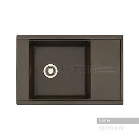 Мойка для кухни Делия 78 прямоугольная с крылом кофе Aquaton 1A715132DE280