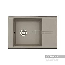 Мойка для кухни Делия 78 прямоугольная с крылом серый шелк Aquaton 1A715132DE250