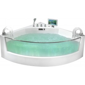 Ванна  угловая с подголовником Gemy G9080 O