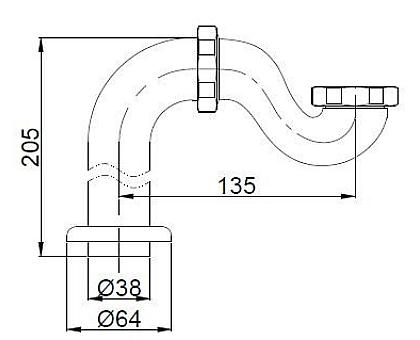 Гидрозатвор BelBagno BB567-01-TI-CRM