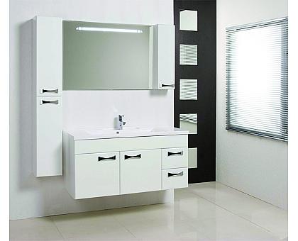 Мебель для ванной Диор 120 белый Aquaton 1A110601DR010 (Тумба + раковина + зеркало)
