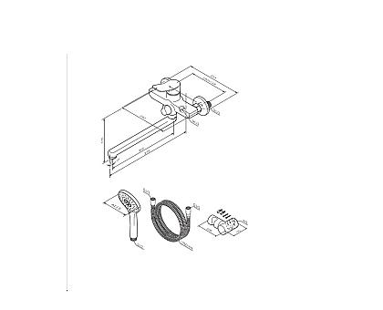 F85A95000 X-Joy смеситель для ванны и душа излив 300 мм душевой набор хром.