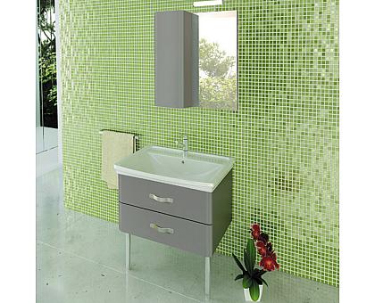 Зеркало-шкаф Comforty Рим-60 серый 00003132546