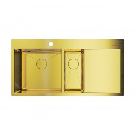 Кухонная мойка Omoikiri Akisame 100-2-LG-L 4973089 светлое золото