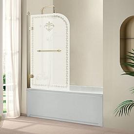 Шторки на ванну распашной RETRO (Cezares) RETRO-V-1-80/145-PP-G-L