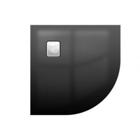 Акриловый душевой поддон Riho 451 90x90 черный глянец, накладка хром DC981600000000S
