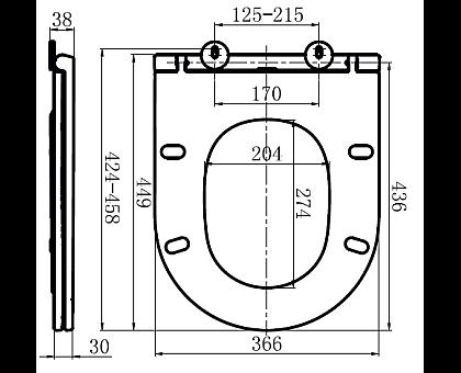 C507853WH Inspire сиденье для подвесного унитазамикролифт