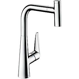 Смеситель с выдвижным изливом для кухни Hansgrohe Talis Select S 72821000