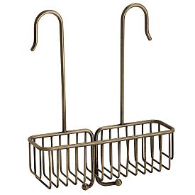 BASKET Полка-решётка подвесная L25 см., для внешнего душ. см-ля, бронза