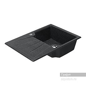 Мойка для кухни Монца прямоугольная с крылом графит Aquaton 1A716032MC210