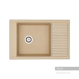 Мойка для кухни Делия 78 прямоугольная с крылом латте Aquaton 1A715132DE260